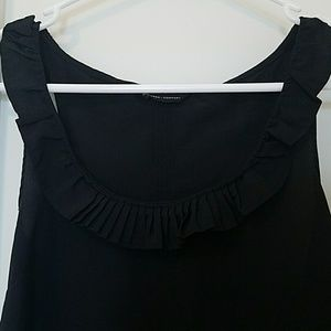New York & Company Tops - Black tank with ruffle collar